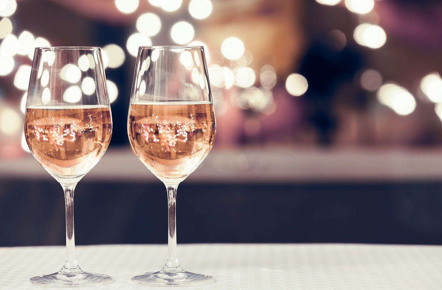Wine glass with rose