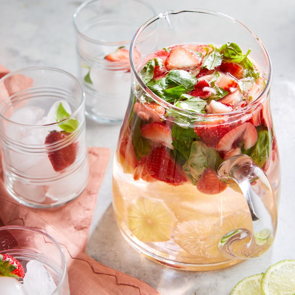 berry basil and lime infused water