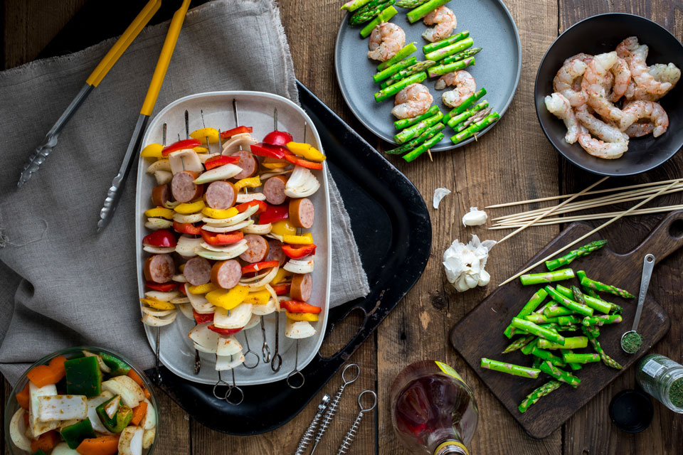How to Make Mix-&-Match Kebabs for an Easy Dinner on the Grill