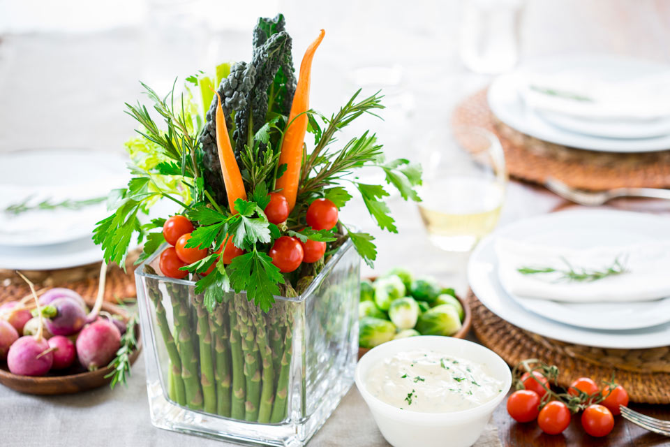 How to Make a Crudité Bouquet—the Centerpiece You Can Eat