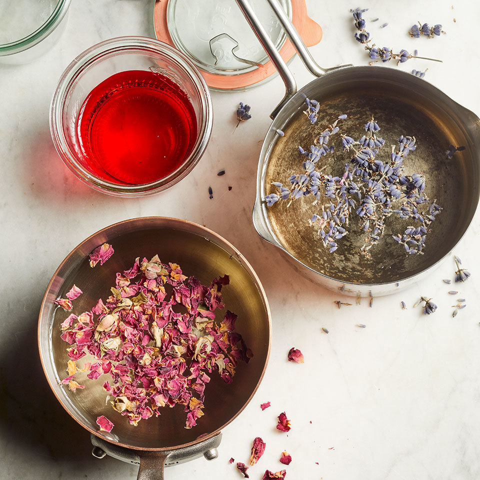 floral simple syrup