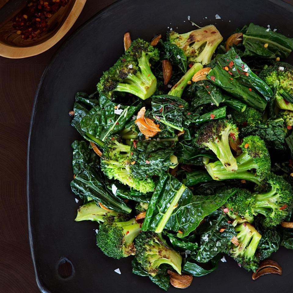 Sautéed Broccoli & Kale with Toasted Garlic Butter