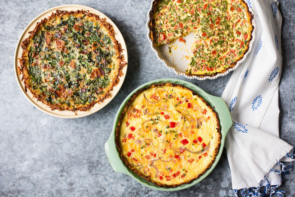 These Veggie Crust Ideas Are the Best Healthy Base for Your Quiche