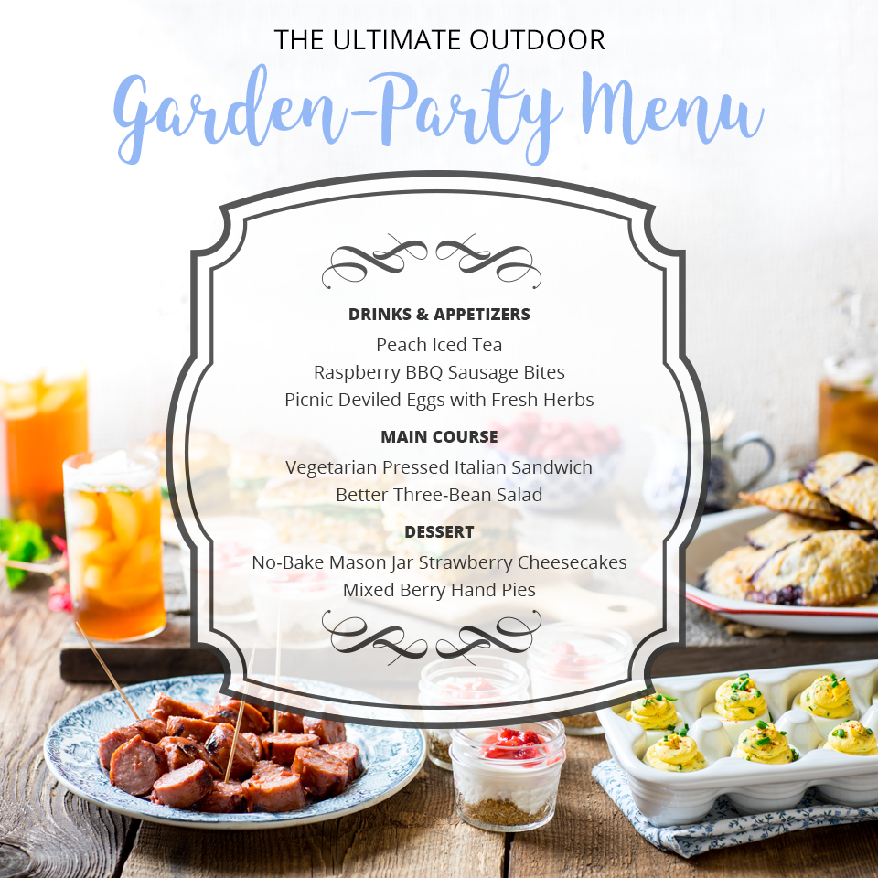 The Ultimate Outdoor Garden-Party Menu for Summer Entertaining