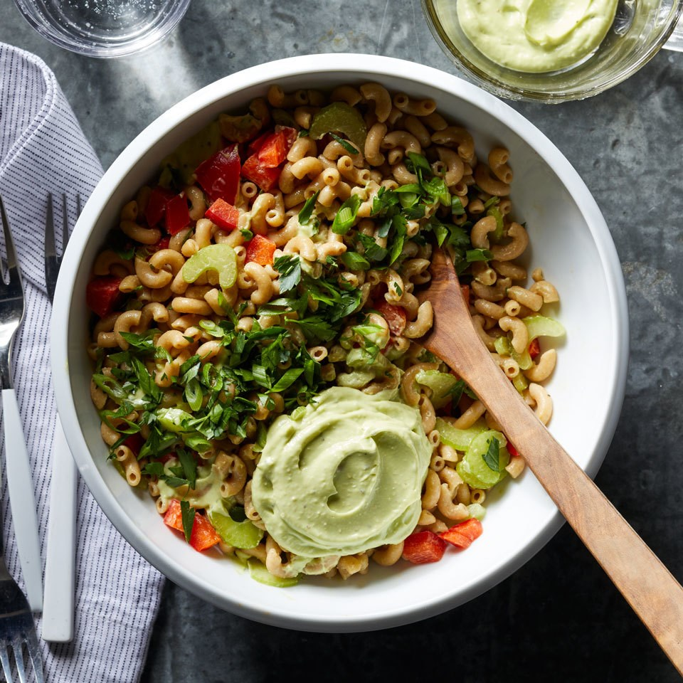 Macaroni Salad with Creamy Avocado Dressing