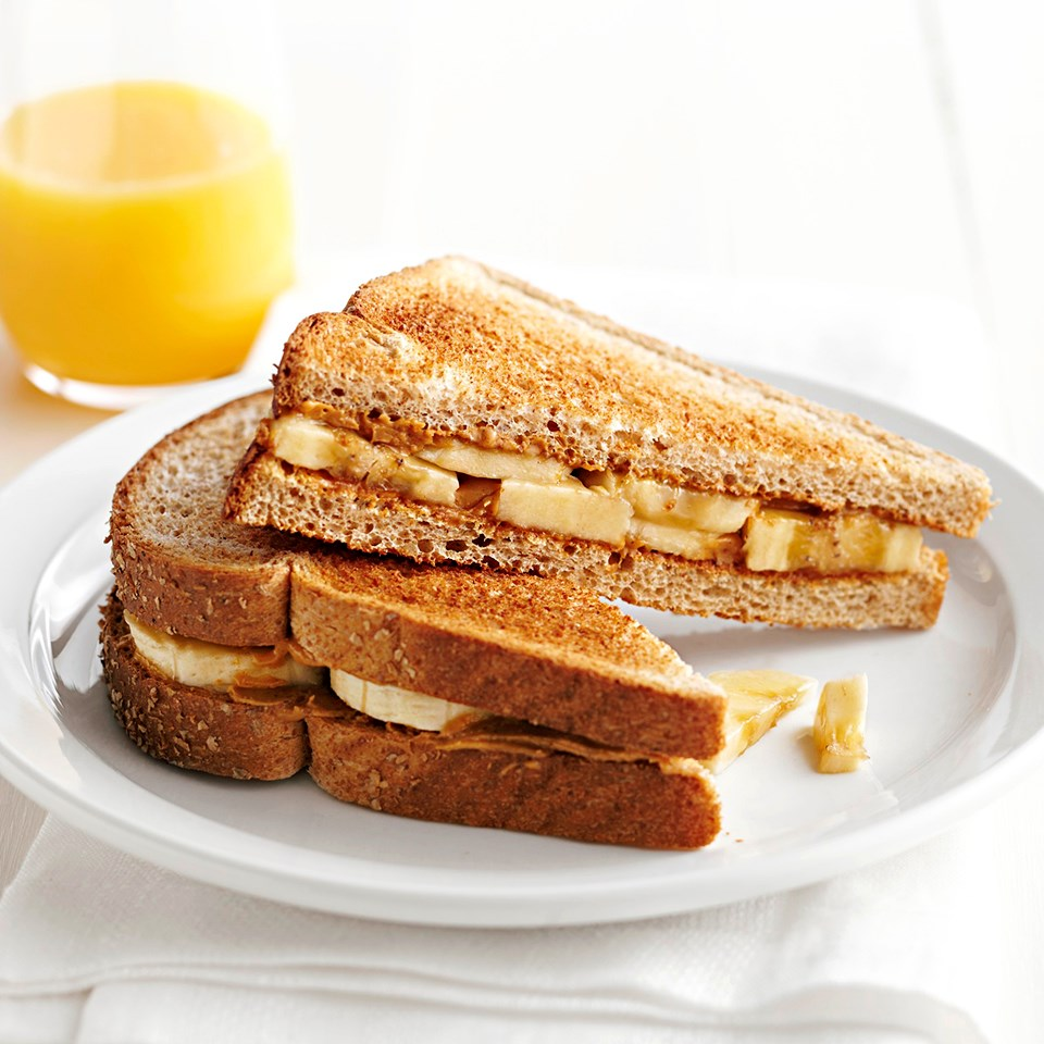 Peanut Butter and Banana Breakfast Sandwich