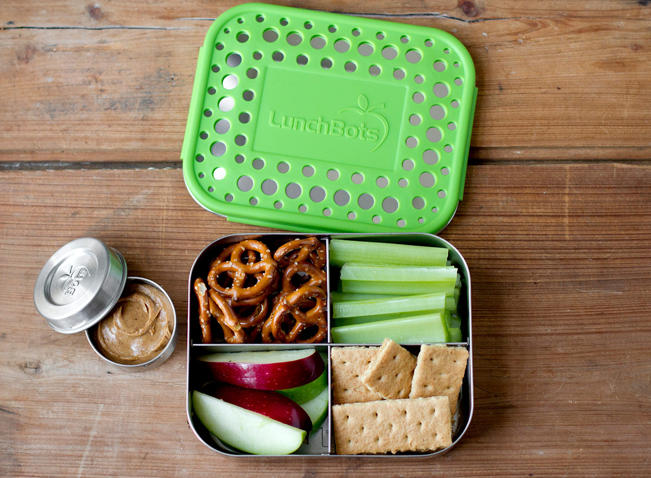 lunchbots stainless steel bento
