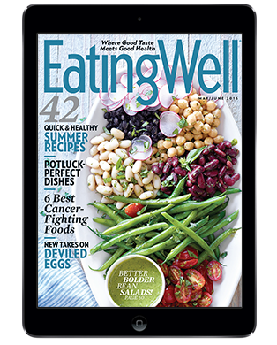 EatingWell magazine on a tablet