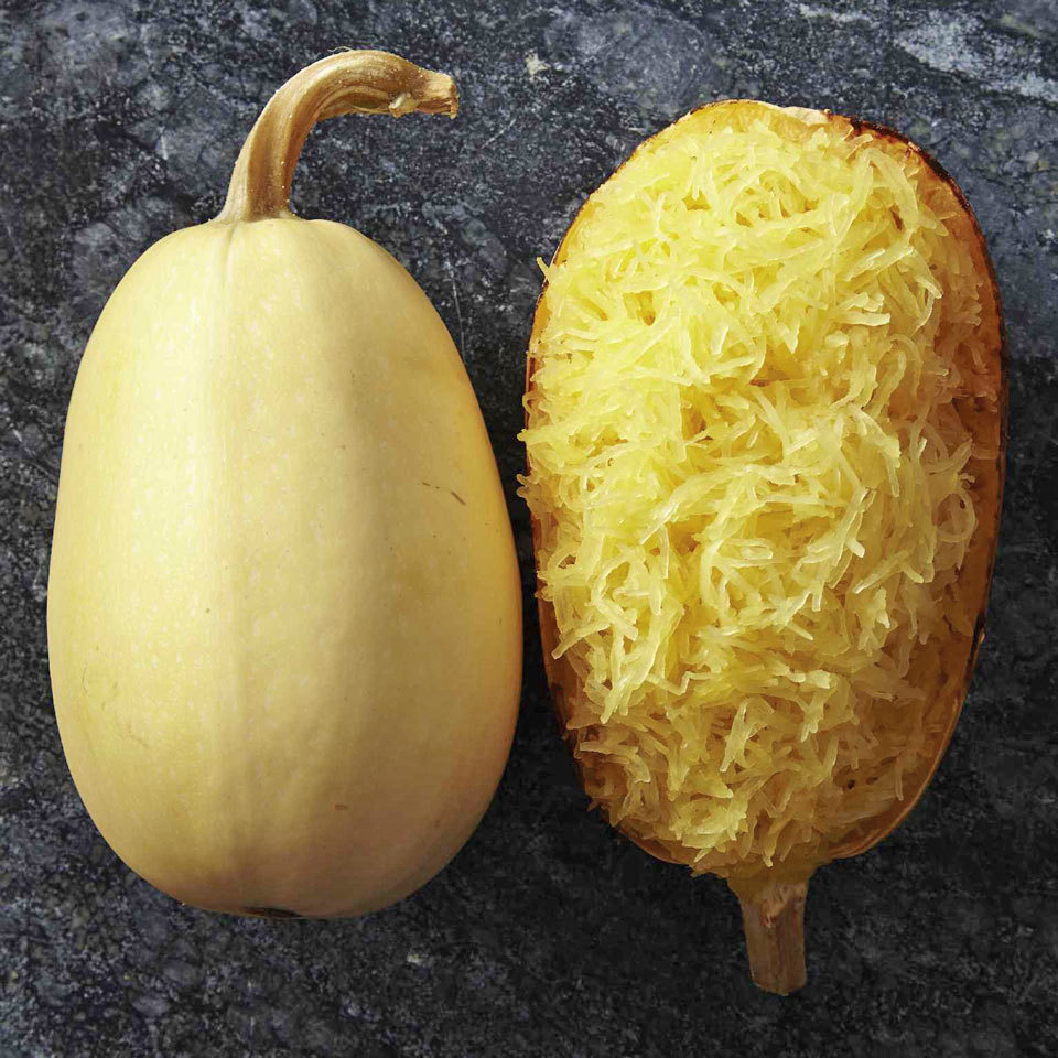 spaghetti squash side by side