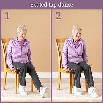 Cardio Exercise: Seated Tap Dance
