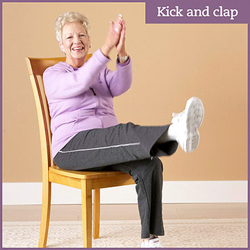 Cardio Exercise: Kick and Clap