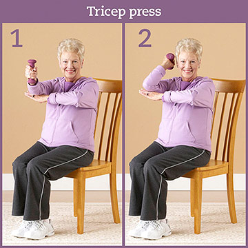 Strength Exercise: Tricep Press
