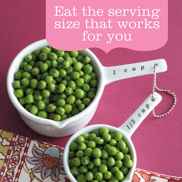 Misleading Advice: Eat the serving size on the food label.