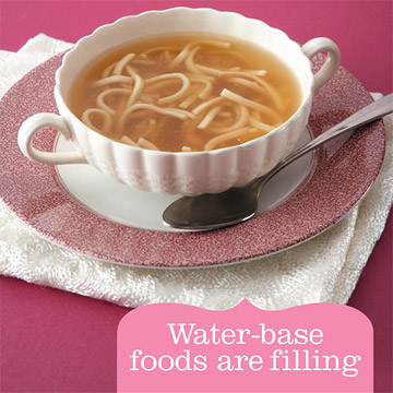 Misleading Advice: Lose weight by drinking water before your meals.