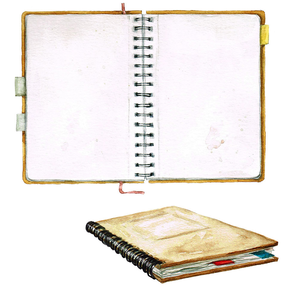 Illustration of blank notebook
