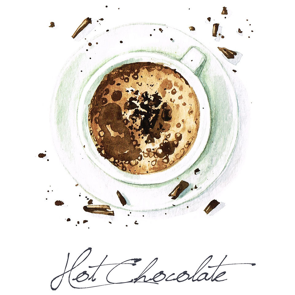 illustration of a mug of hot chocolate