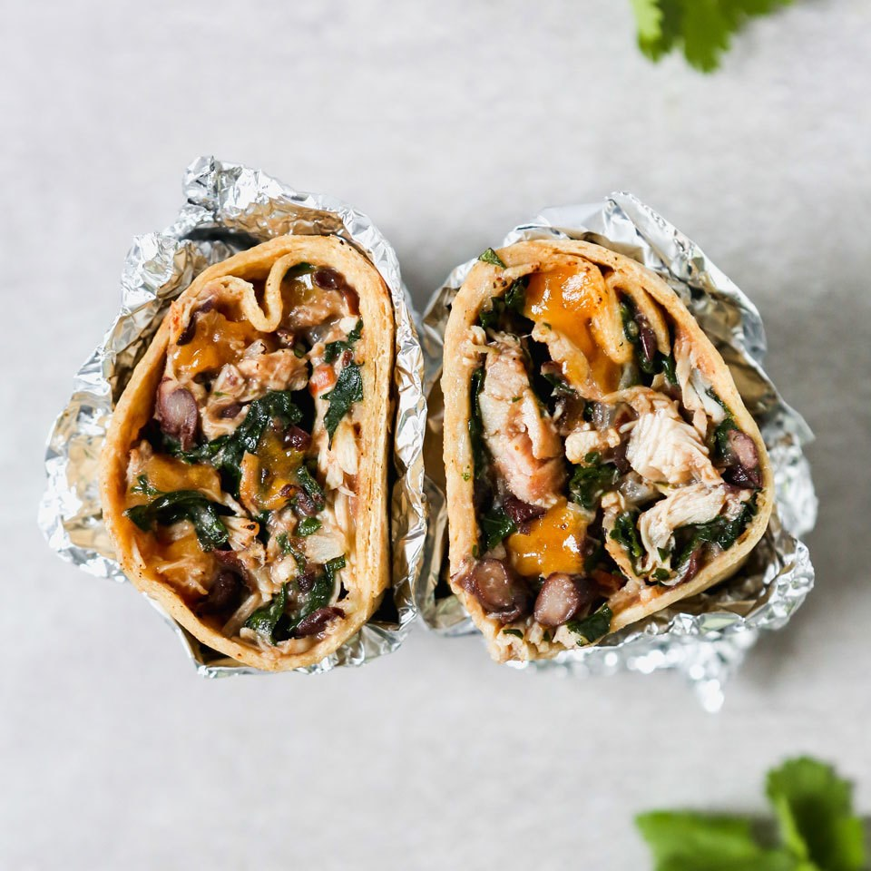 Chicken Freezer Burritos