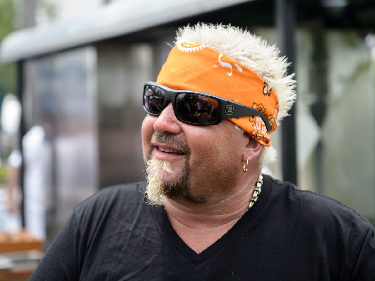 Guy Fieri Cooked Dinner for First Responders of the Camp Fire