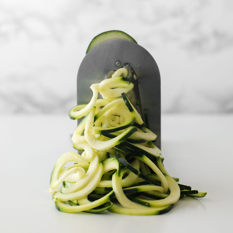 How to Make Zoodles with a Countertop Spiralizer