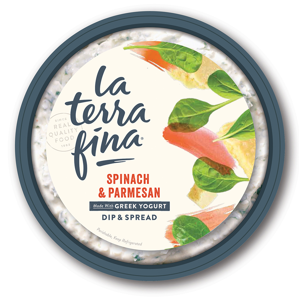la terra fina spinach and parmesan dip and spread