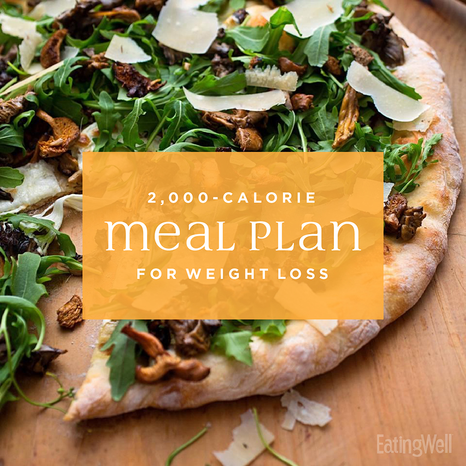 7-Day Diet Meal Plan to Lose Weight: 2,000 Calories