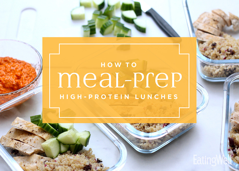 how to meal-prep high-protein lunches