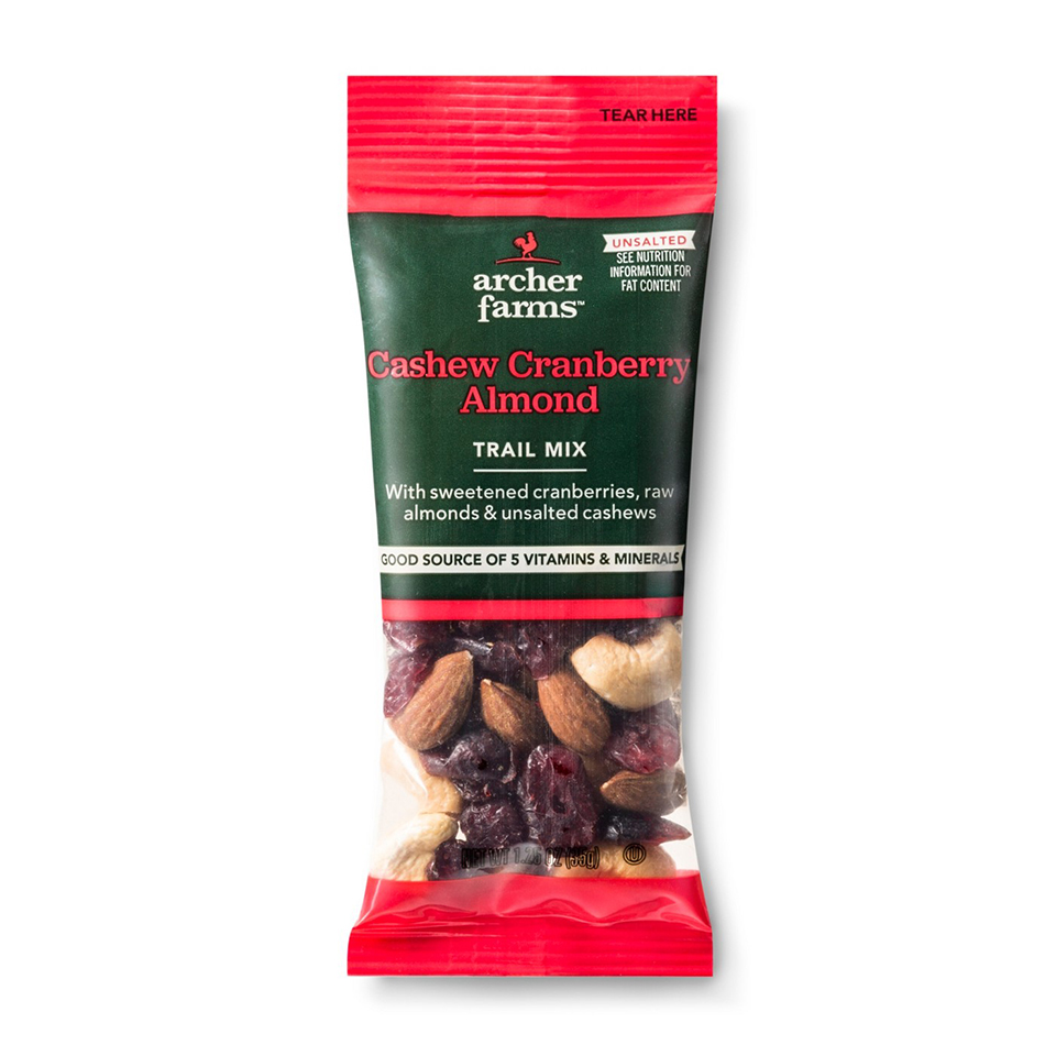 archer farms cashew cranberry almond trail mix
