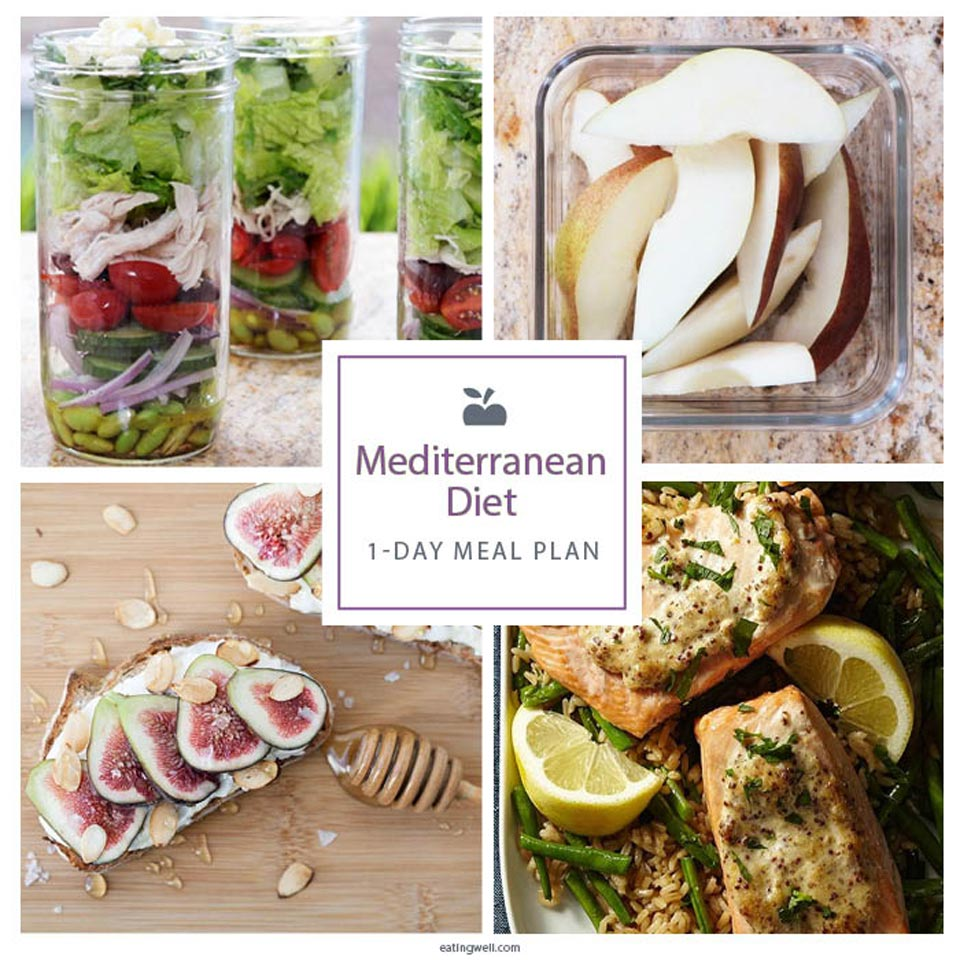 mediterranean diet 1-day meal