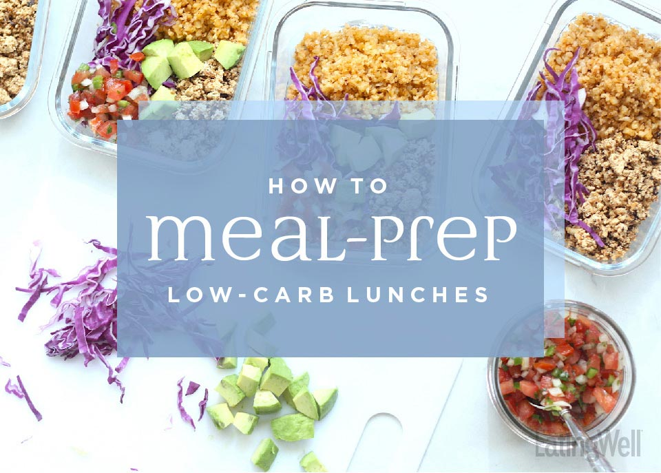 how to meal prep low carb lunches