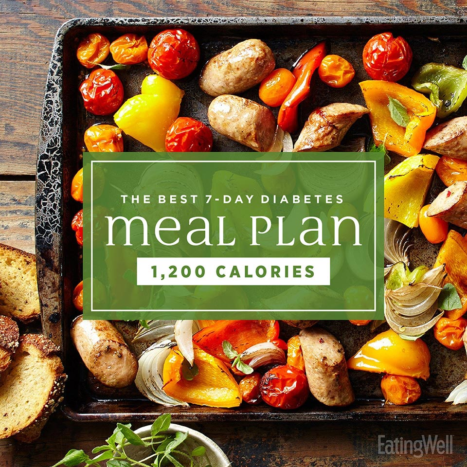 The Best 7 Day Diabetes Meal Plan Eatingwell