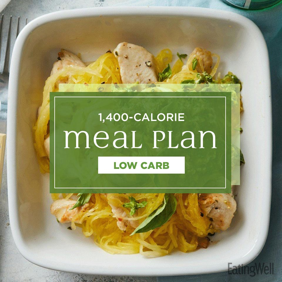 1400 Calorie Meal Plan Low Carb Eatingwell