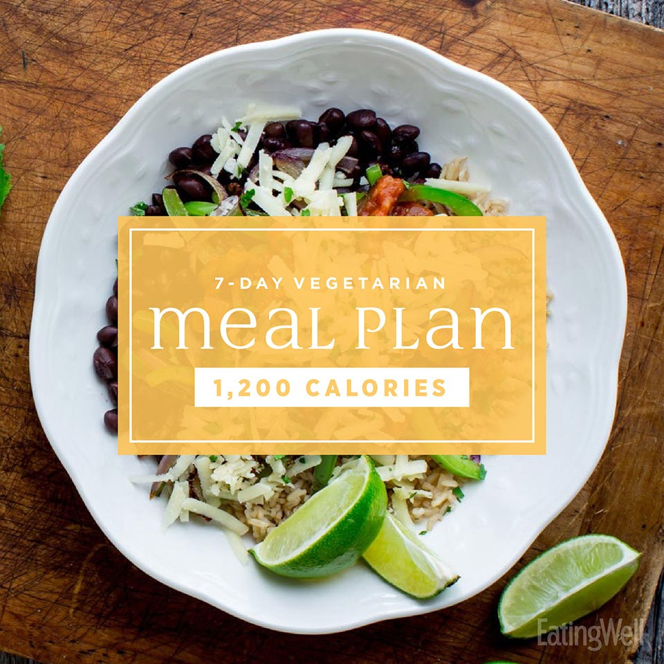 7-Day Vegetarian Meal Plan: 1,200 Calories | EatingWell