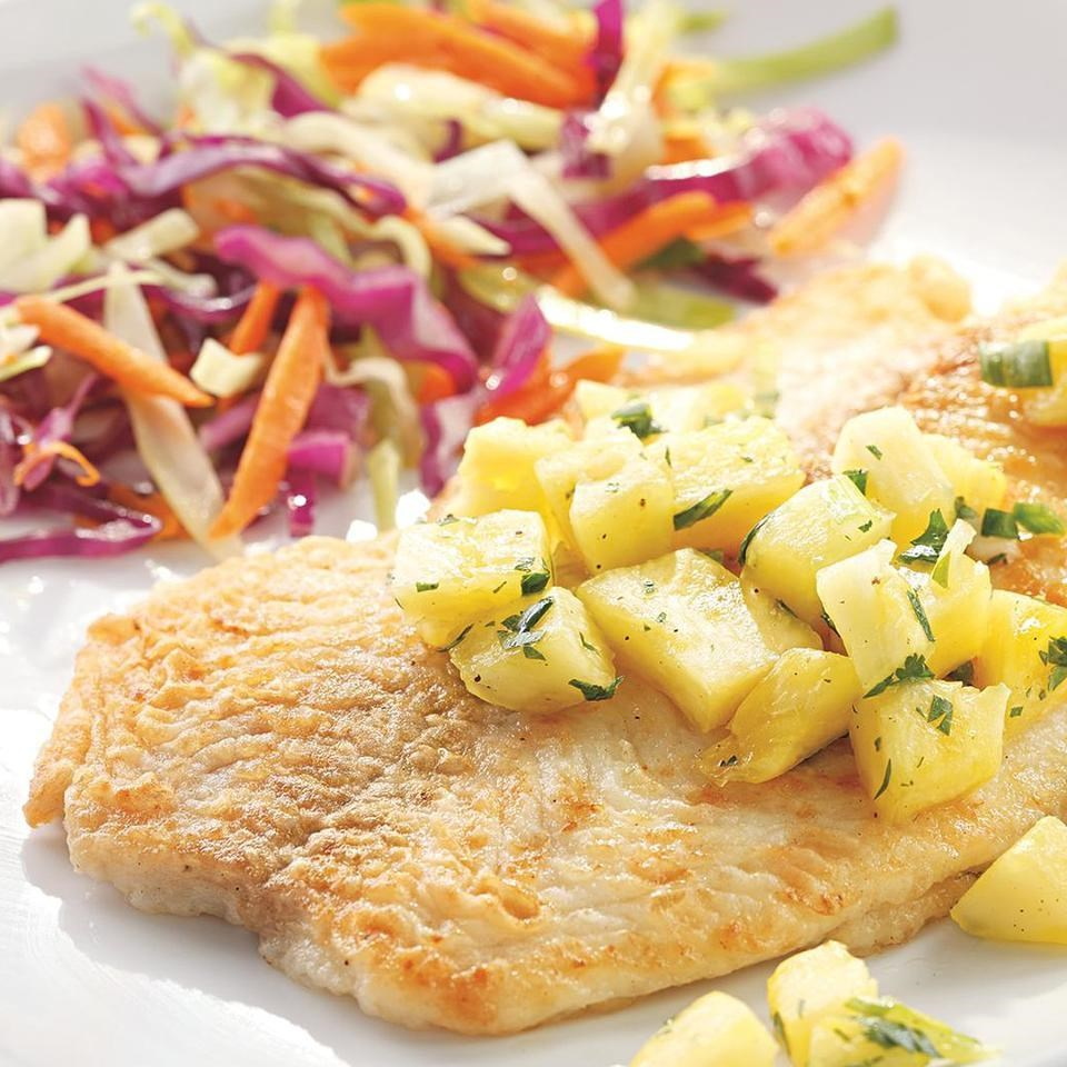 Fish Fillets with Pineapple & Jalapeño Salsa