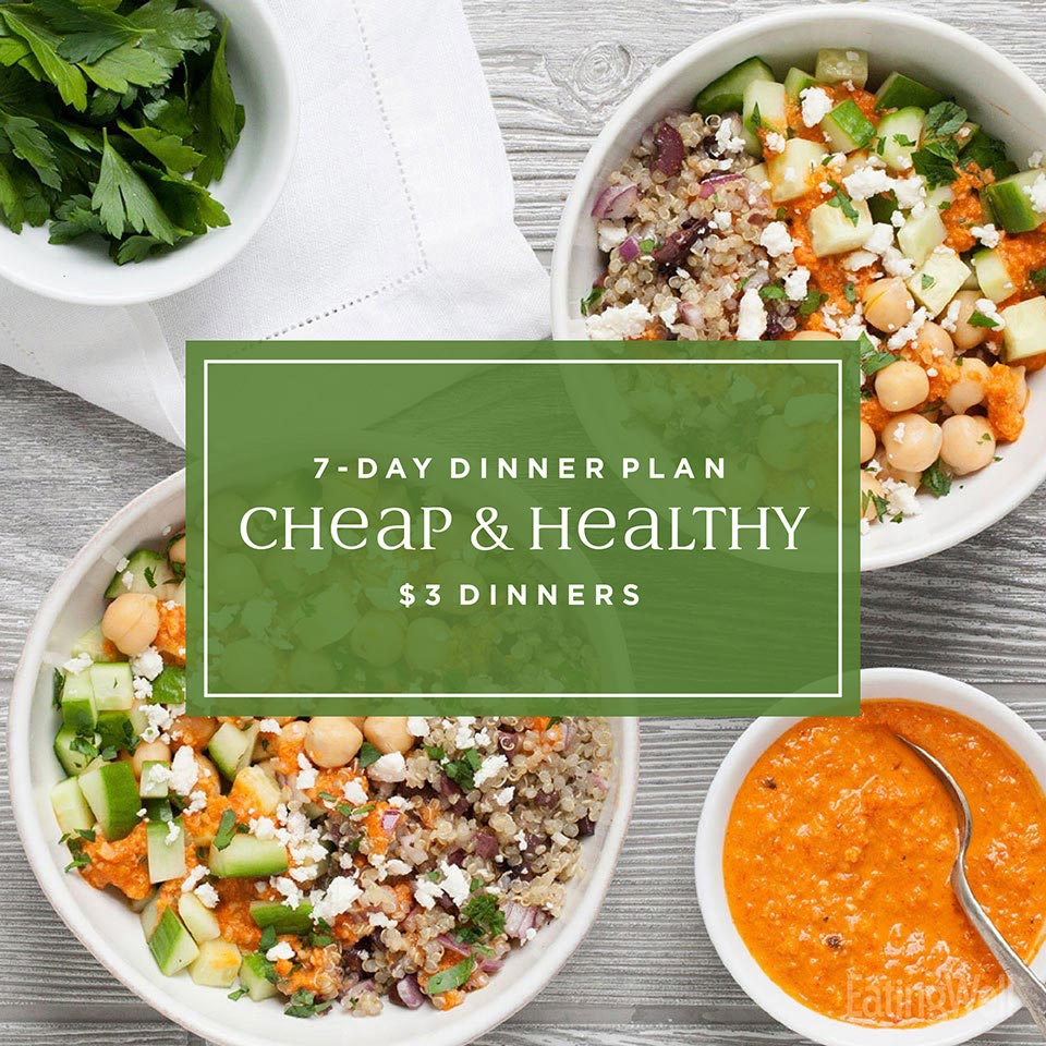 7-Day Meal Plan: Easy Cheap $3 Dinners