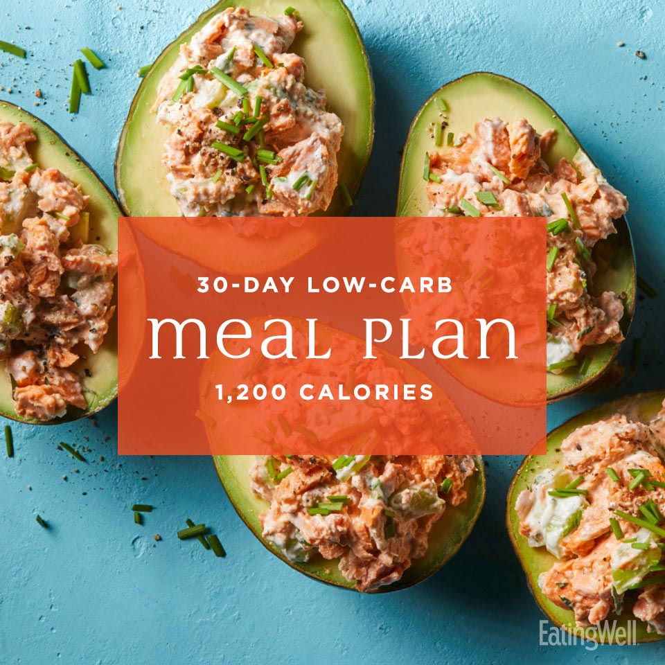 30-Day Low-Carb Meal Plan: 1,200 Calories
