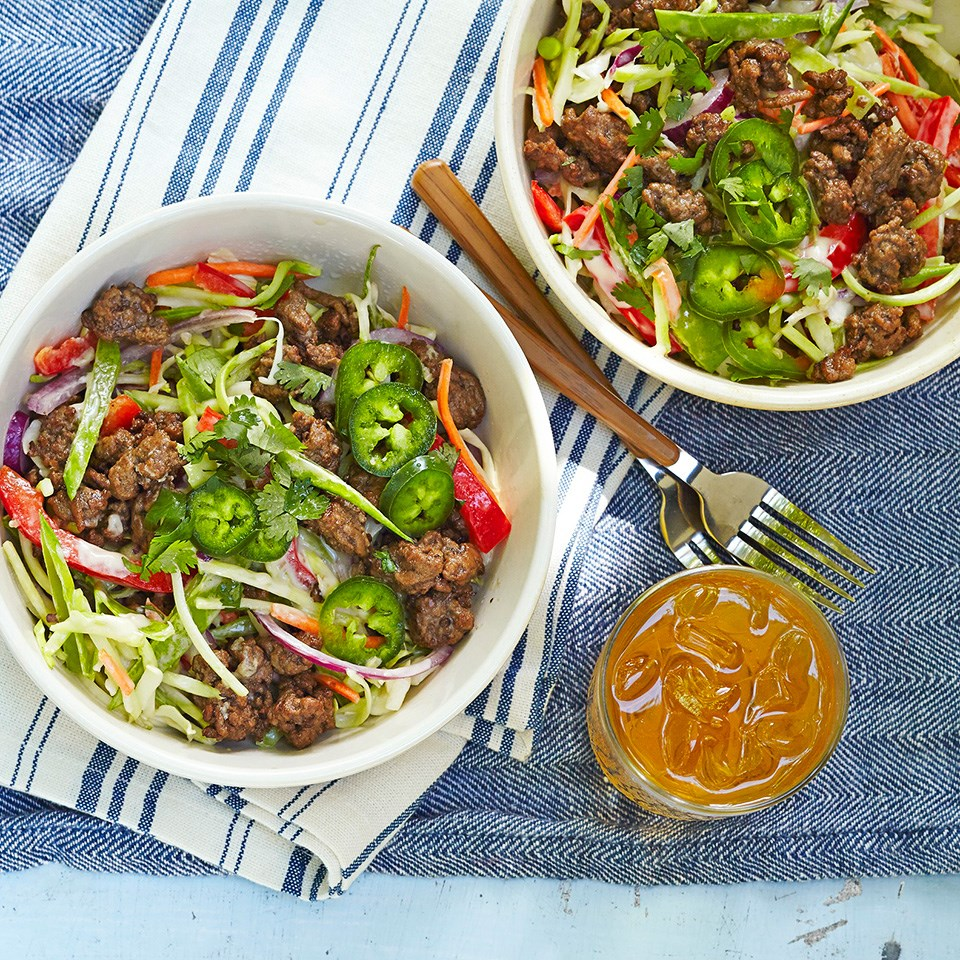 Asian Beef and Cabbage Salad
