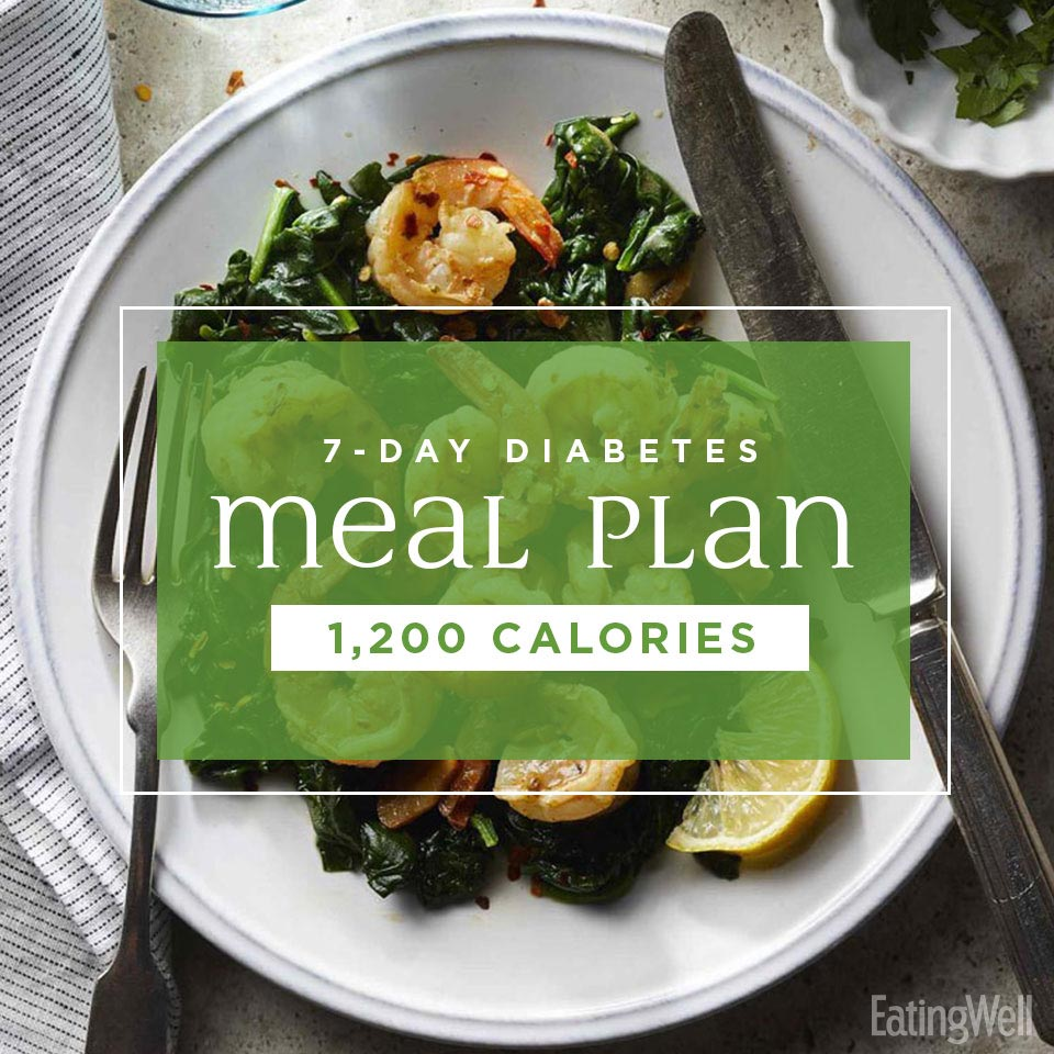 7-Day Diabetes Meal Plan: 1,200 Calories