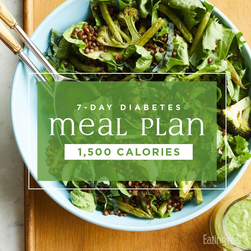 7-Day Diabetes Meal Plan: 1,500 Calories