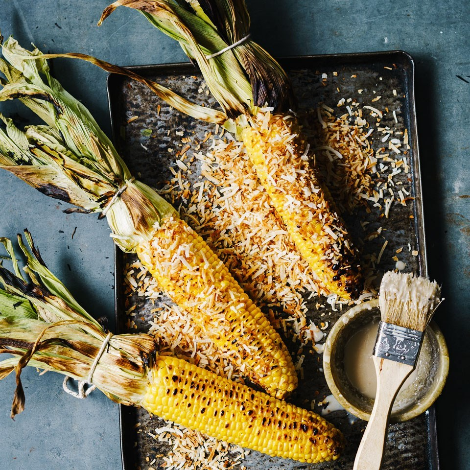 coconut grilled corn on the cobb
