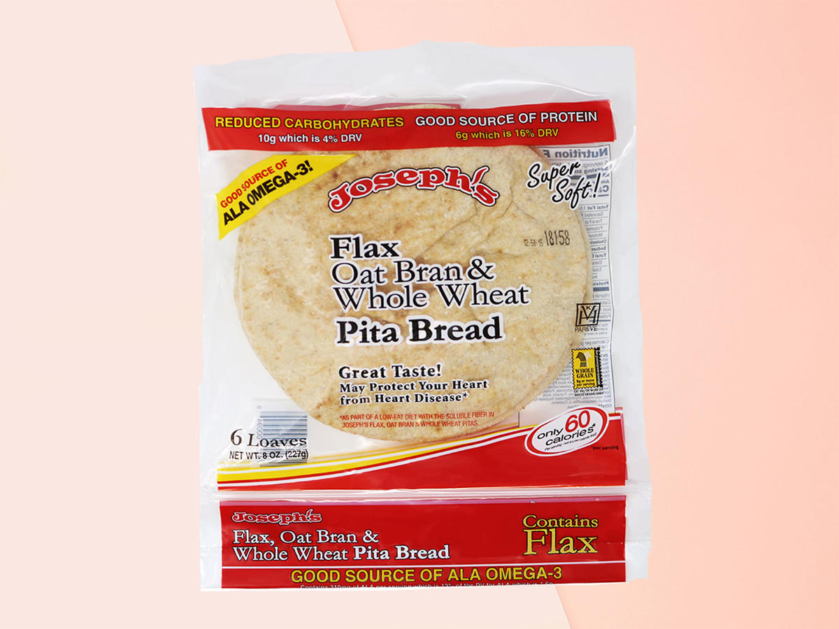 flax, oat and whole wheat flour pita bread