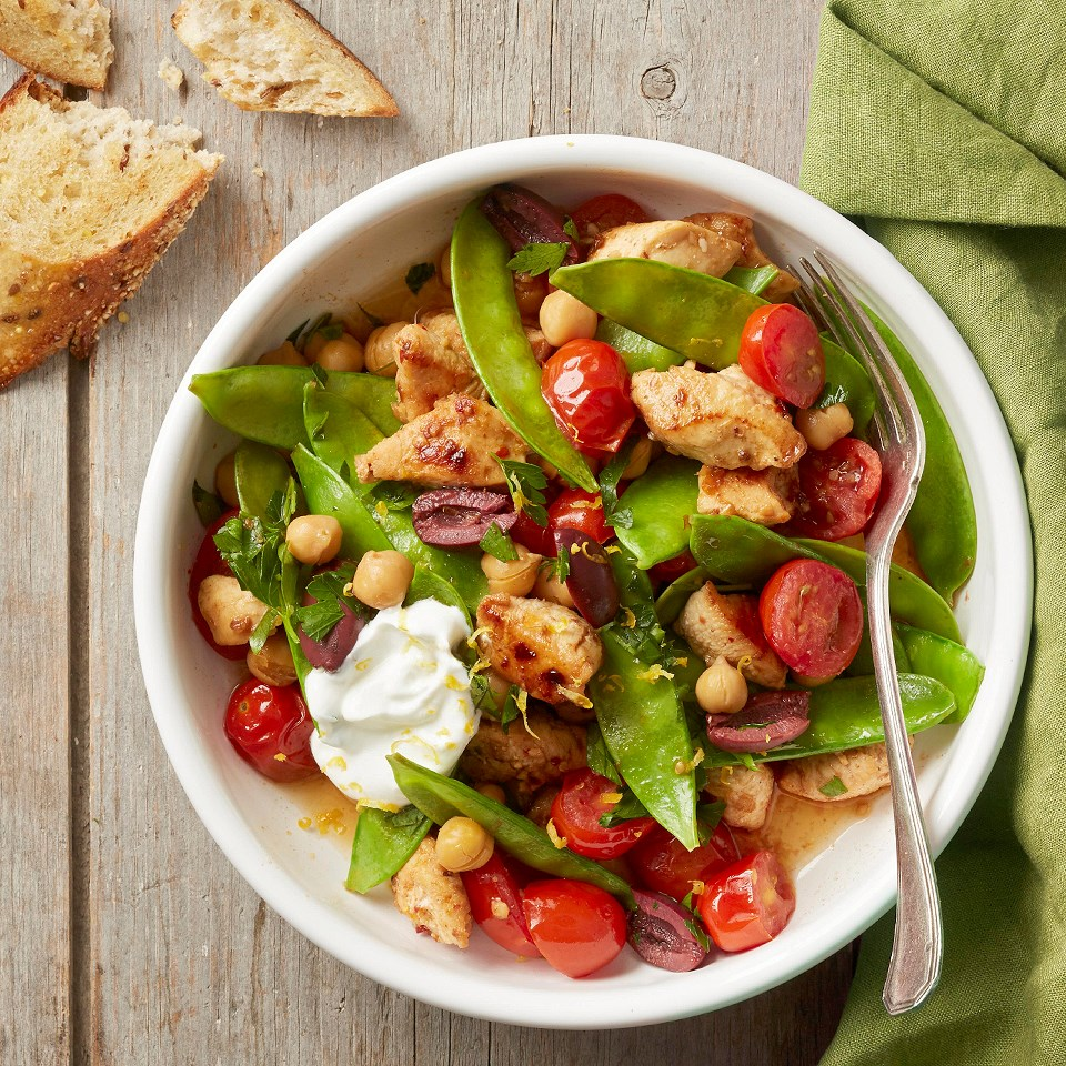 Spicy Chicken and Snow Pea Skillet