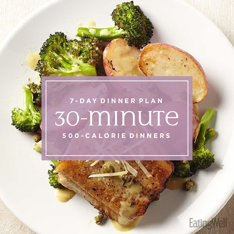 30 minute 500 calorie dinners
