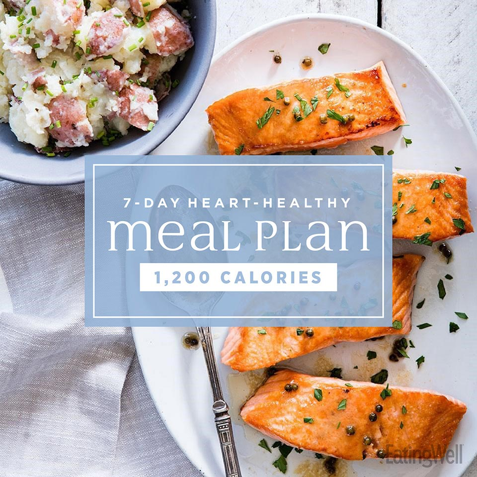 7-Day Heart-Healthy Meal Plan: 1,200 Calories