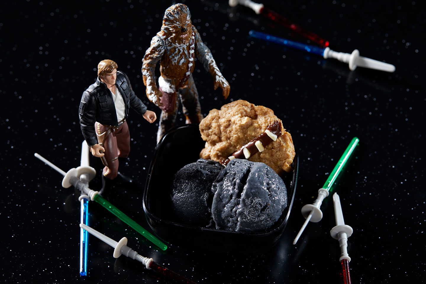 Han Fro-Yo and Chewie Cookies