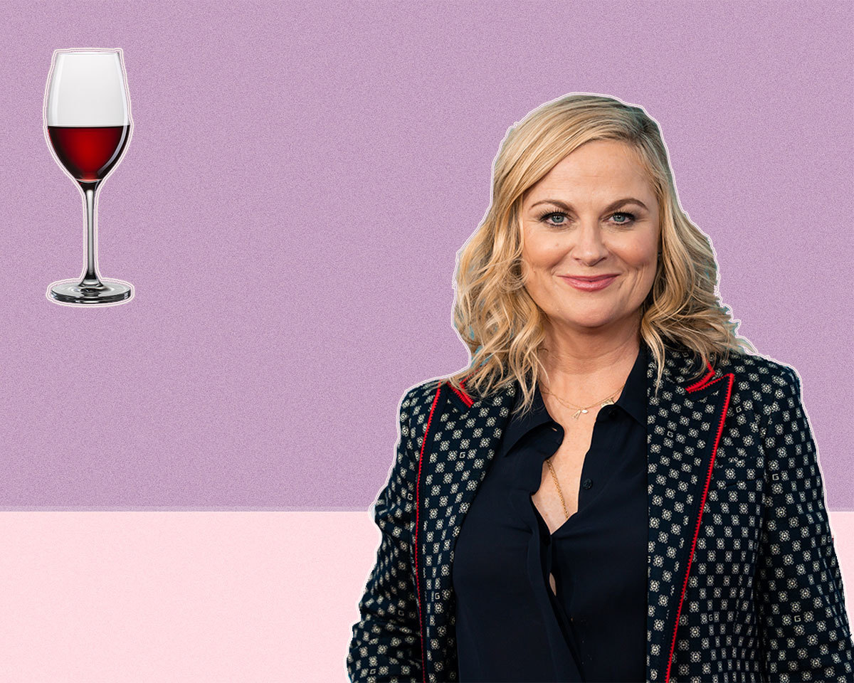 Amy Poehler with Wine Glass