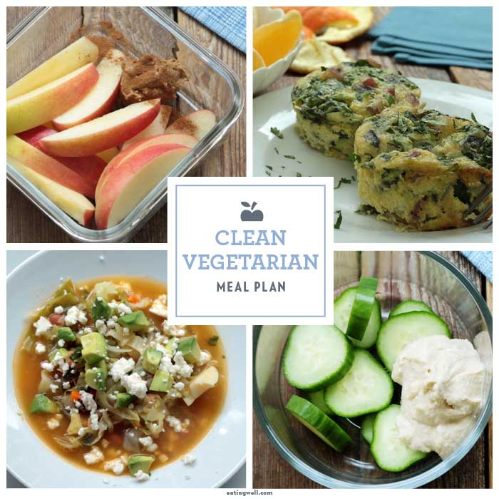 1-Day Vegetarian No-Sugar-Added Meal Plan