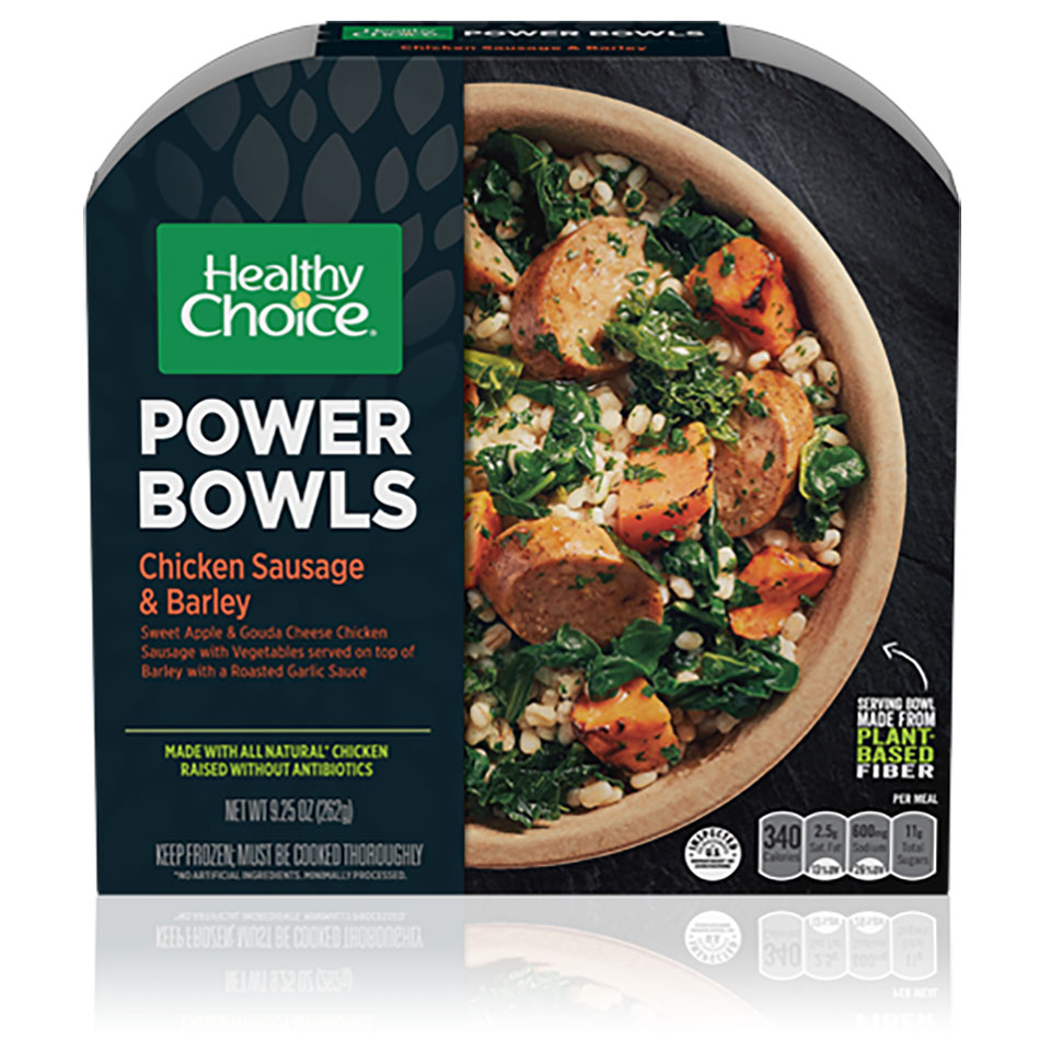 Healthy Choice Chicken Sausage & Barley Power Bowl box