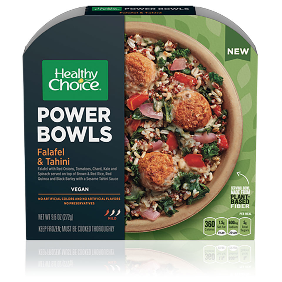 Healthy Choice Falafel & Tahini Power Bowl box