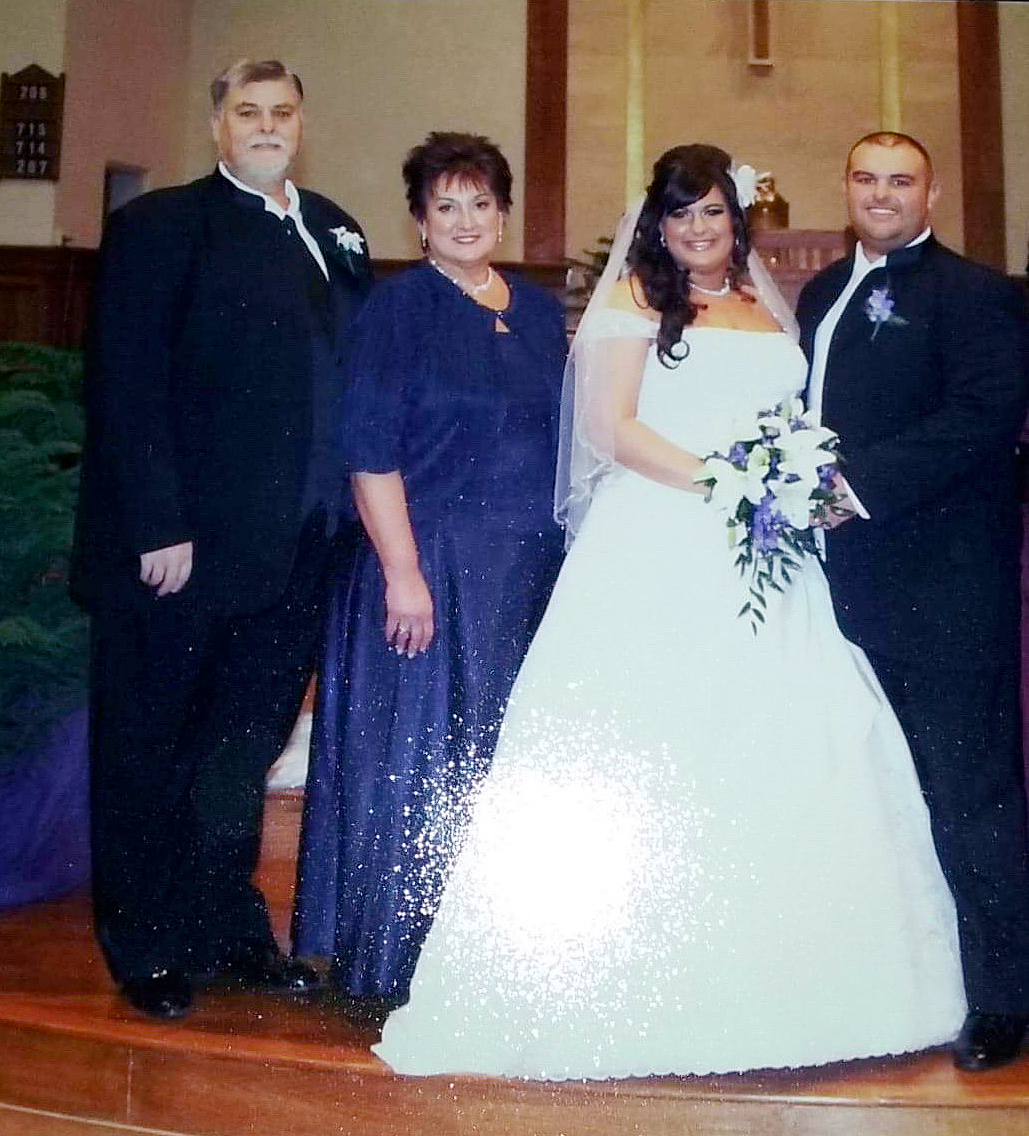 Steve and Debbie Hoffman with Sarah and Dave Bentley at their wedding