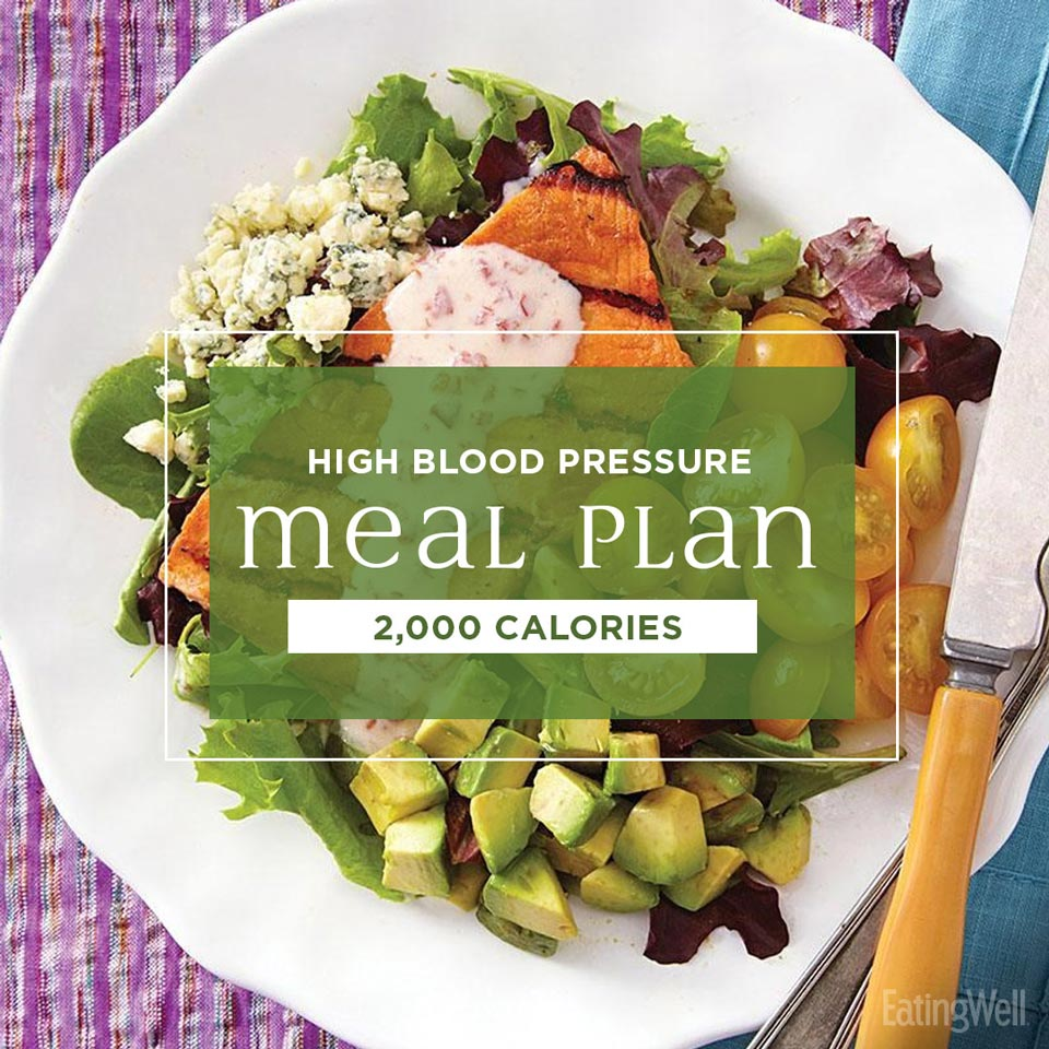 7-Day High-Blood Pressure Meal Plan: 2,000 Calories